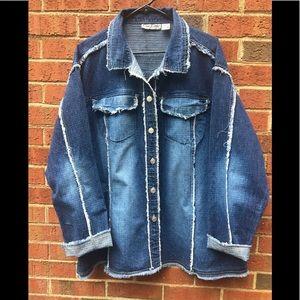 Cutest Distressed Jean Jacket Size 24